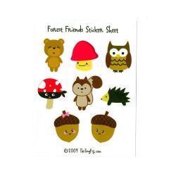 Forest Friends 1 Sticker Sheet
