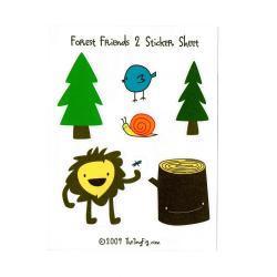 Forest Friends 2 Sticker Sheet